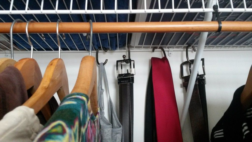 12 hook hacks for apartment dwellers | Wire shelving ...