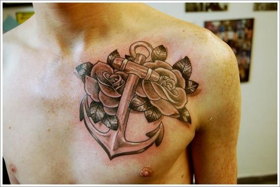 Fantastic Anchor Tattoo Designs and Meaning: Anchor Tattoo Meaning And Designs For Men On Chest ~ Tattoo Design Inspiration