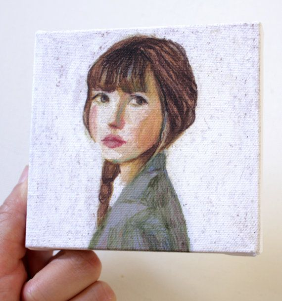 Sarah/ tiny canvas print par tushtush sur Etsy