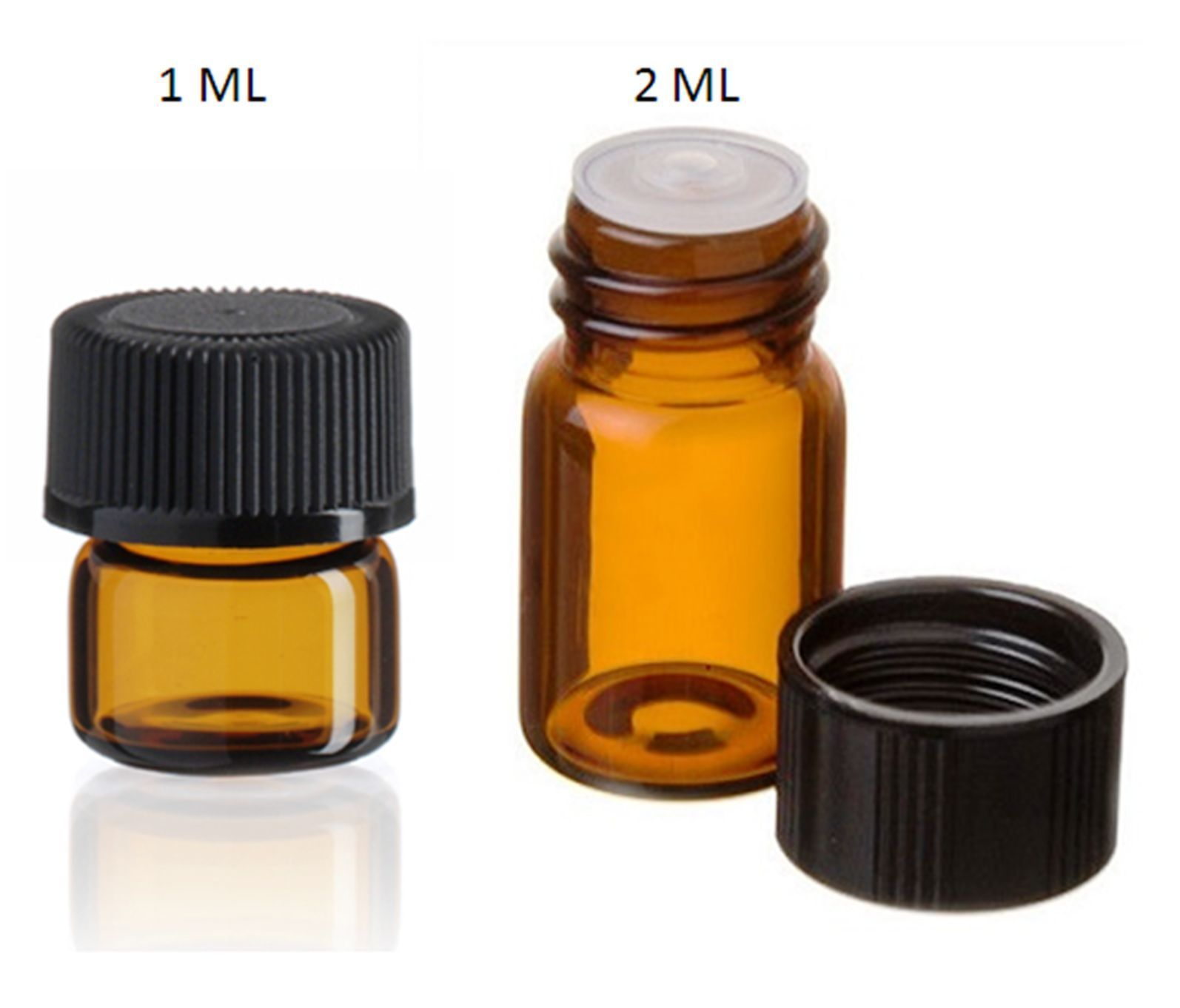Details About Essential Oil Amber Glass Vials W Orifice 1ml 2ml Size Sample Dram Bottles Products Amber Glass Glass Vials Amber Glass Bottles