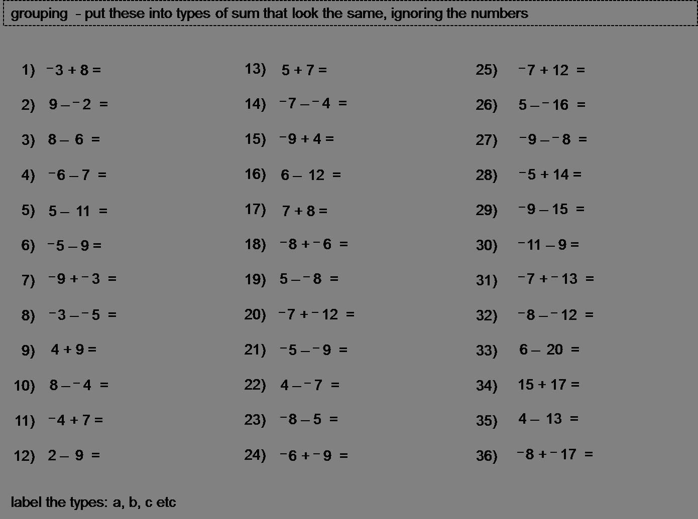 small resolution of Mental Math Worksheet Grade 7   Printable Worksheets and Activities for  Teachers