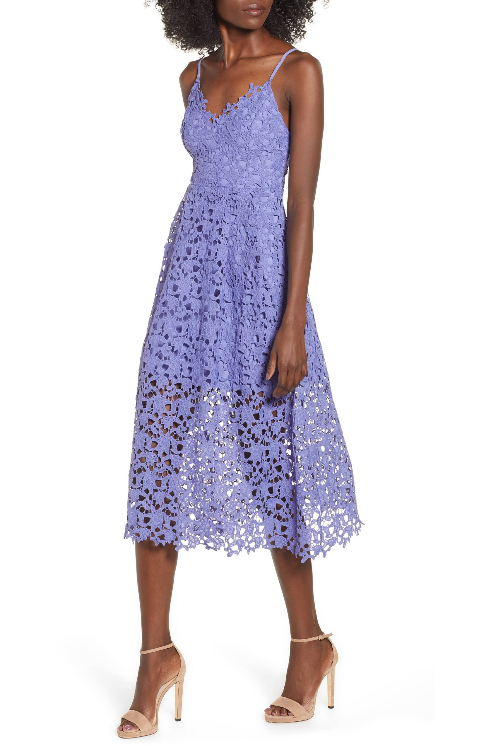 792db0ac055b1 Lace Midi Dress, Main, color, PURPLE ORCHID | women's top/bottom ...