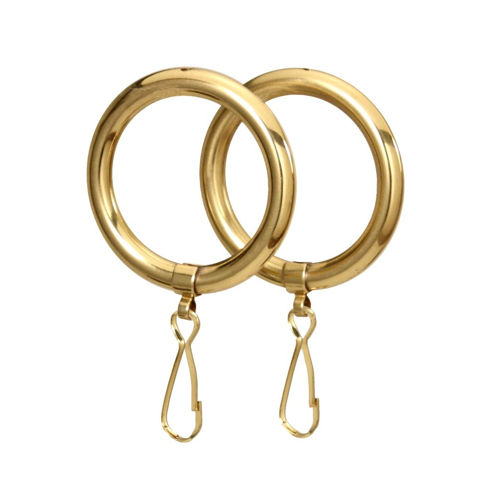 Gatco Shower Curtain Rings In Polished Brass