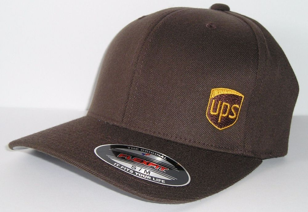 7051c2a26f808 United Parcel Service Brown UPS Logo Flex Fit Fitted Baseball Hat Cap S/M  #fashion #clothing #shoes #accessories #mensaccessories #hats #ad (ebay  link)