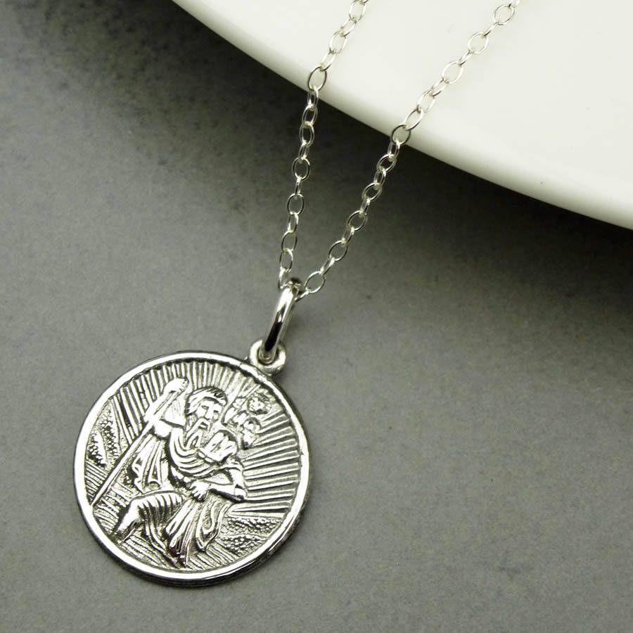 Personalised st christopher necklace st christopher necklace personalised st christopher necklace mozeypictures Choice Image