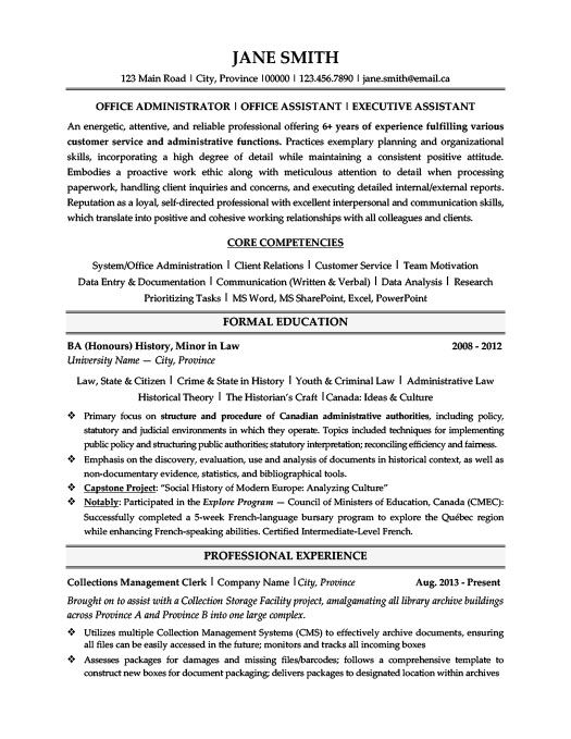 Office Administrator Resume Template Premium Resume Samples