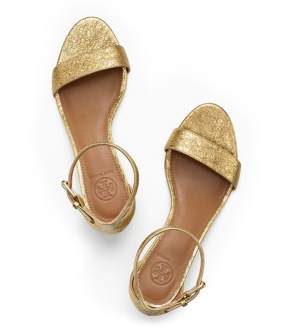 c5642b4114cdd Tory Burch Savannah Metallic Wedge Sandal