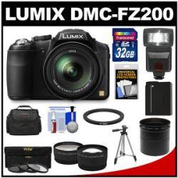 Best Price Panasonic Lumix Dmc Fz200 Digital Camera Black With 32gb Card Battery