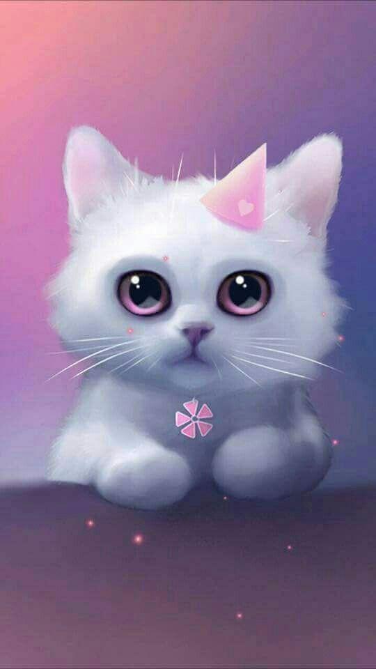 Pin By Five On Girls L S Cute Drawings Cute Cat Wallpaper Cute Animals