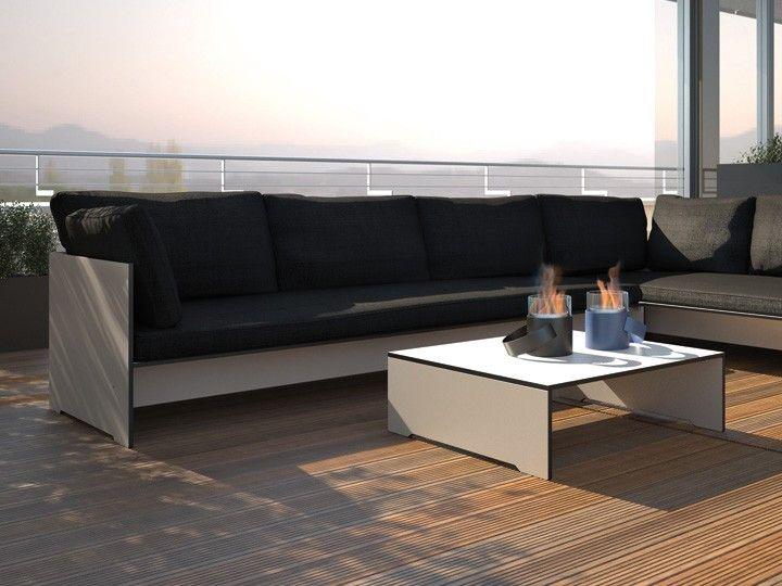 riva loungegruppe garten conmoto hpl mit polster garten gartenm bel gartensofa. Black Bedroom Furniture Sets. Home Design Ideas