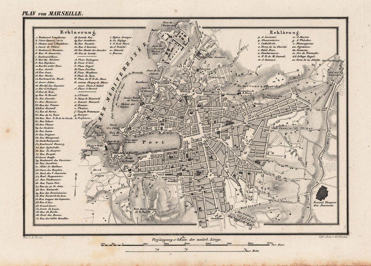 Plan Of Marseille 1844 地図 地図 作成