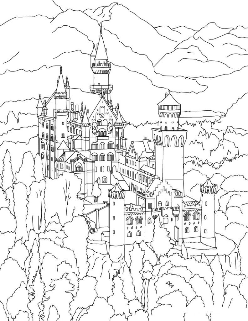 Free coloring page eiffel tower
