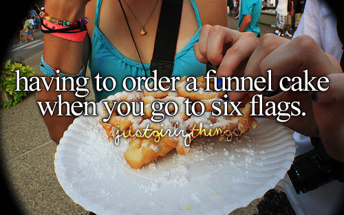 or the fair, or anywhere else funnel cakes are sold, i <3 funnel cakes!