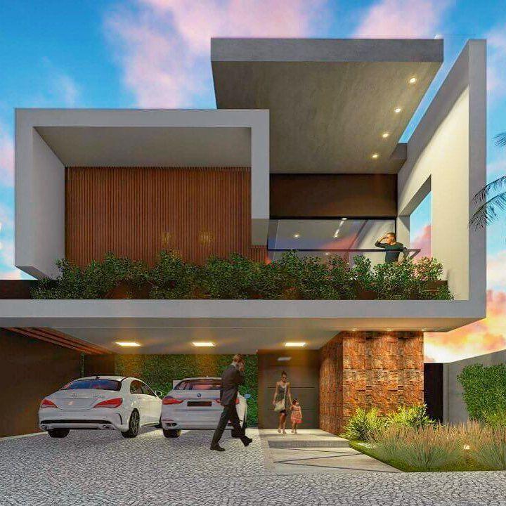 Casa moderna de amplio territorio fachadas casas y for Casas futuristas