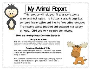 first grade animal report school smarts sci ss first grade 1st grade writing book report. Black Bedroom Furniture Sets. Home Design Ideas