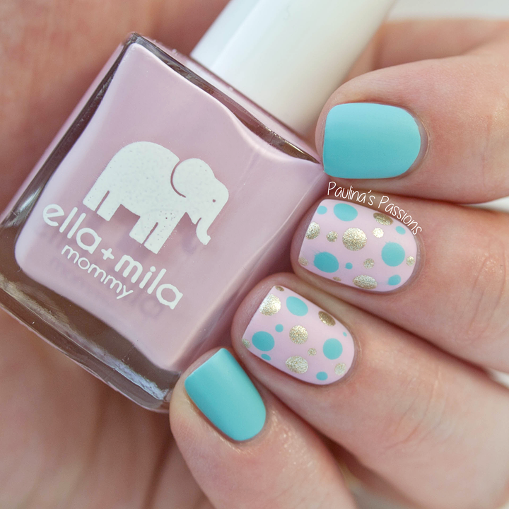 Polka Dots Nails with Ella + Mila Polishes | uñas | Pinterest ...
