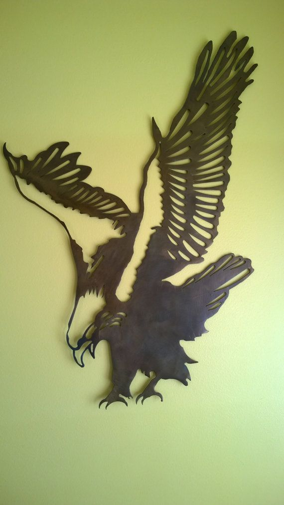 American Bald Eagle Wall Hanging Art Metal Silhouette, Wall Decor ...