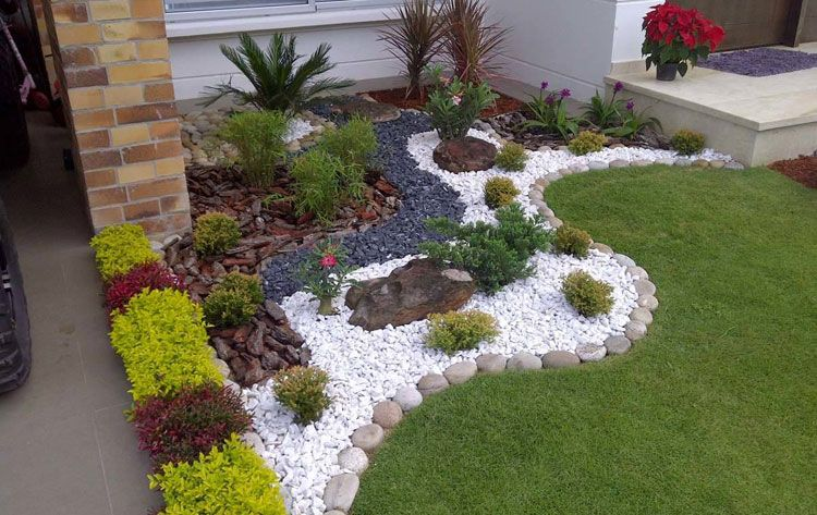 Loading Small Front Yard Landscaping Rock Garden Landscaping Front Yard Garden Design