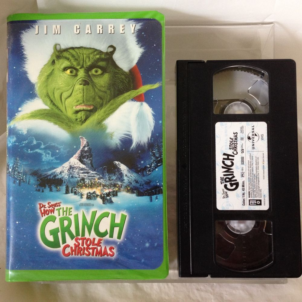 how the grinch stole christmas vhs 2000 universal jim carrey anthony hopkins drseuss - How The Grinch Stole Christmas Vhs