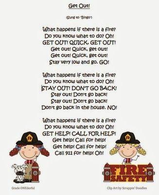 360ade8413e Miss Kindergarten  Fire Safety Week- love this song!