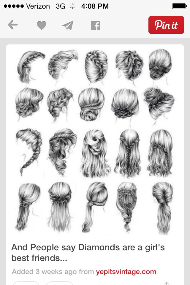 Cute Hairstyles For Just A Normal Day At Work Home Or School How To Draw Hair How To Draw Braids Drawing Hair Tutorial