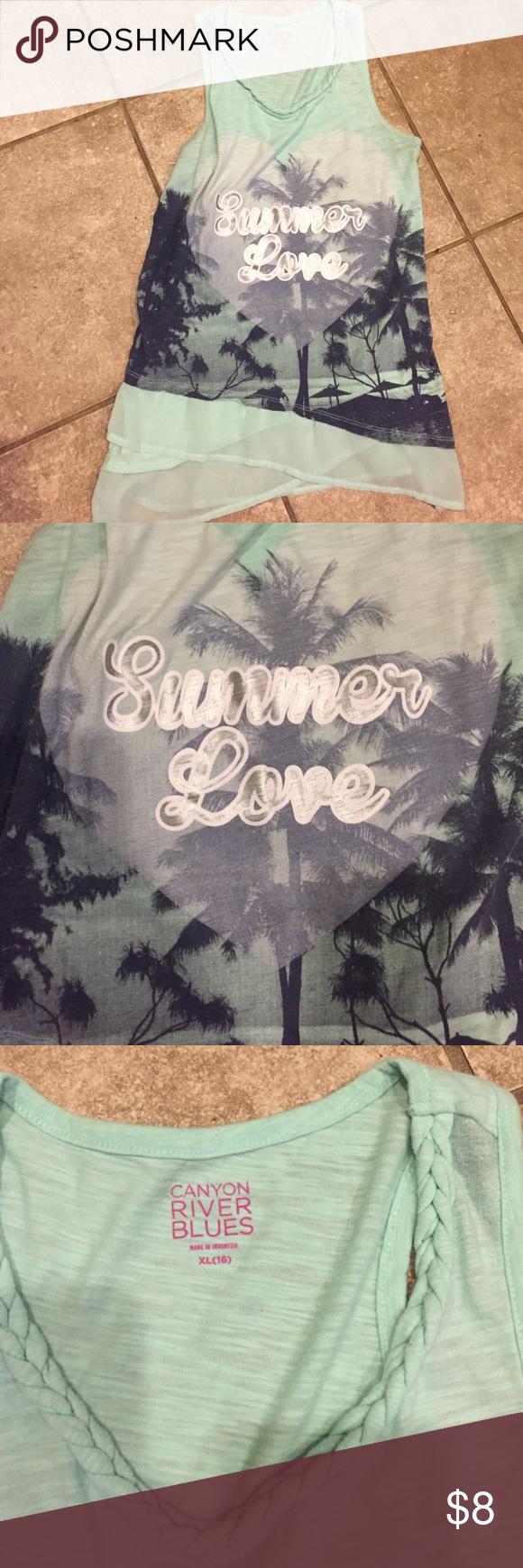 Summer dressy tank Hardly worn Canyon river blues  Shirts & Tops Tank Tops
