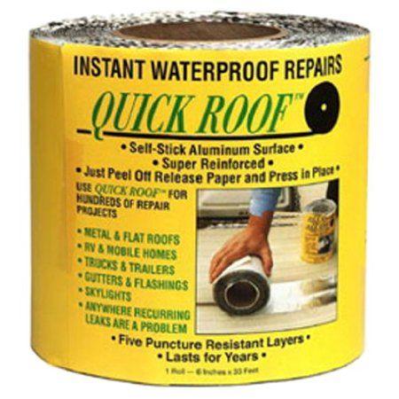 Cofair Qr6 Aluminum 6 X33 5 Quick Roof Tape Walmart Com In 2020 Roof Repair Roof Repair