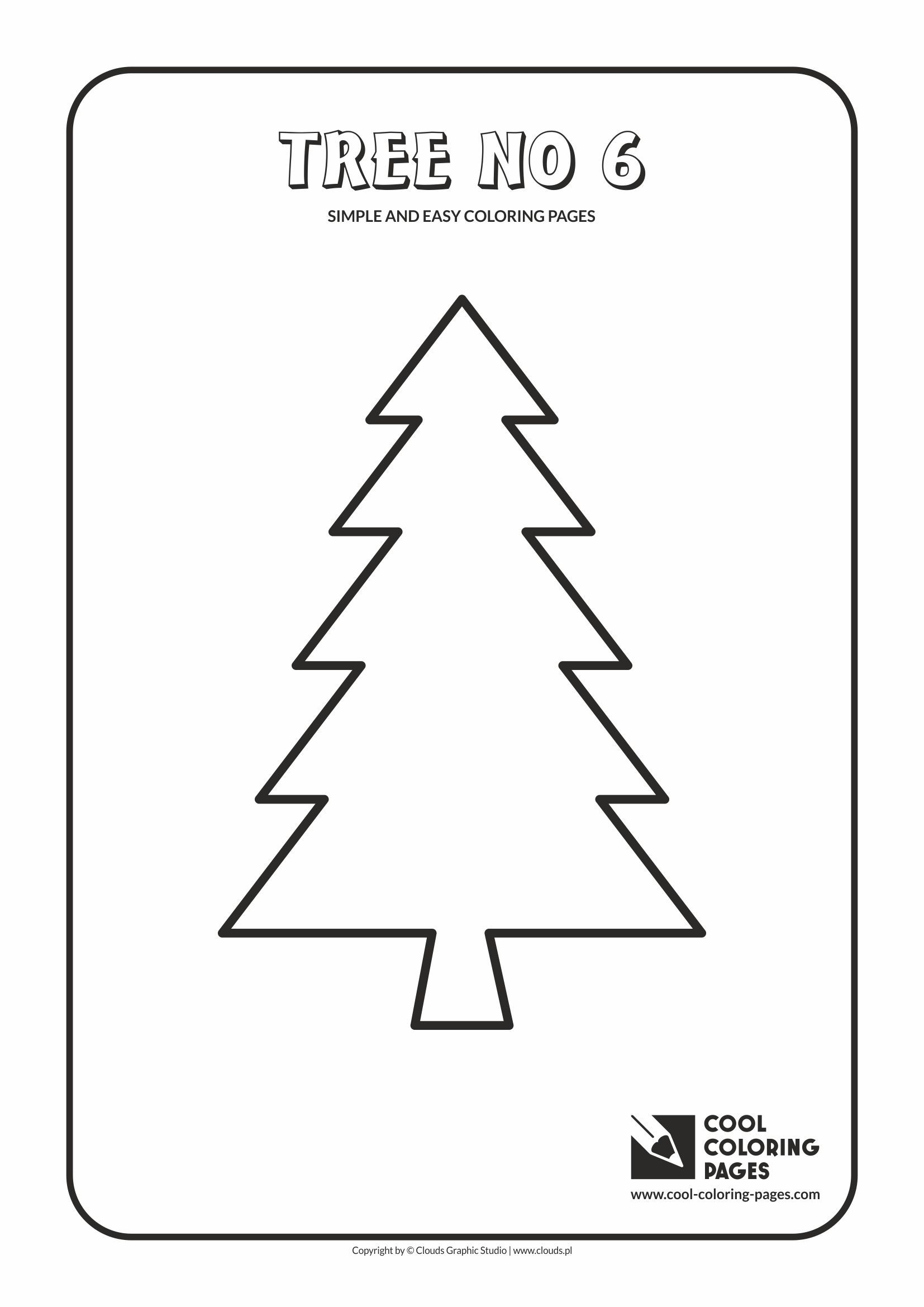 Easy coloring pages for toddlers - Simple And Easy Coloring Pages For Toddlers Tree No 6