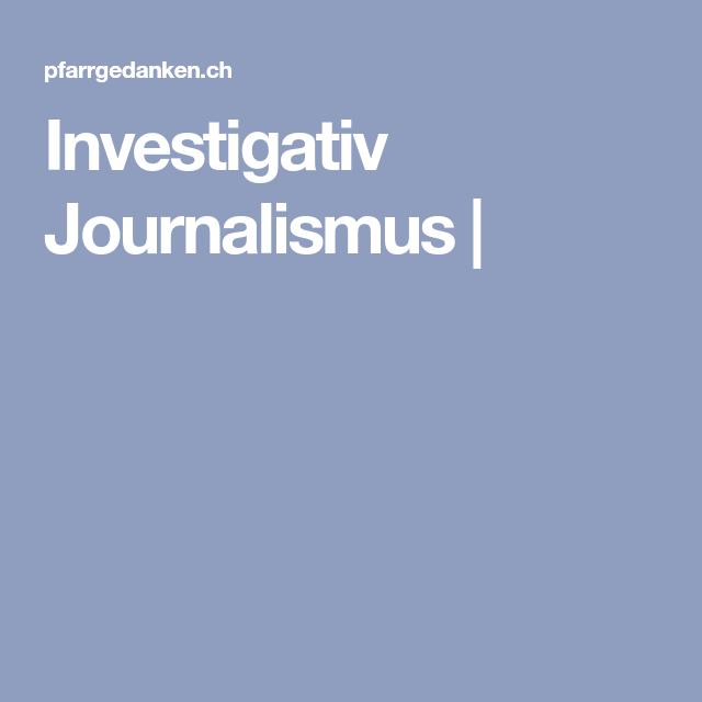 Investigativ Journalismus