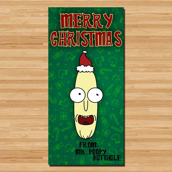 Rick and Morty Holiday Card Featuring Mr PoopyButtHole Things To - fresh coloring pages rick and morty