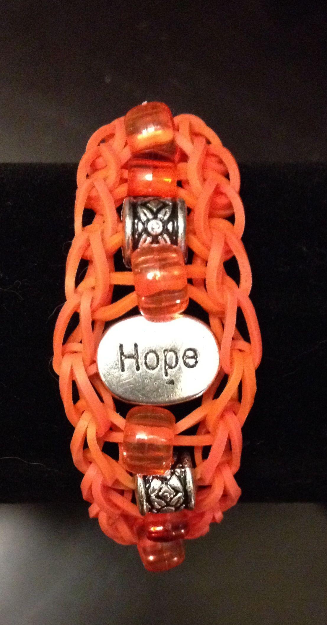 Leukemia awareness hope rainbow loom bracelet see more at facebook
