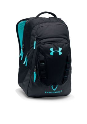 a9a538b28d Under Armour Black Blue Infinity Storm Recruit Backpack