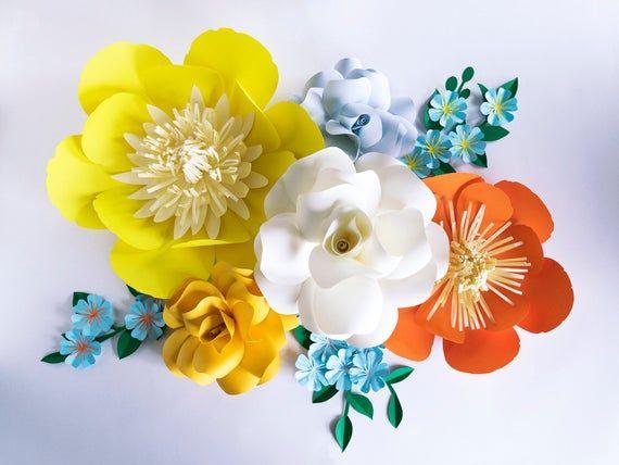 Giant Paper Flowers, Large Paper Flower Backdrop, Paper Flower Wall Decor, Large Paper Flowers Weddi #largepaperflowers