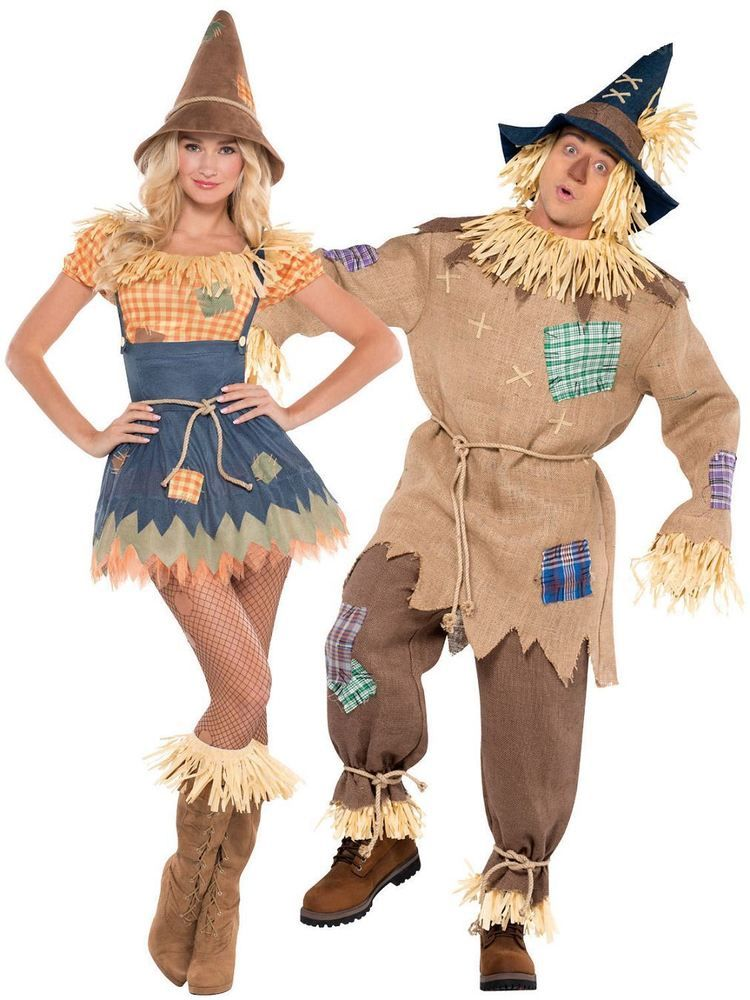 Scarecrow Wizard of Oz Movie Scare Crow Fancy Dress Up Halloween Adult Costume