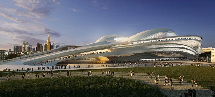 zaha hadid: new national stadium of japan venue for tokyo 2020 olympics - designboom | architecture & design magazine
