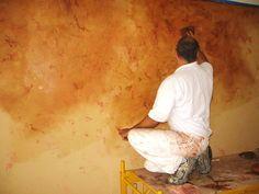 Tuscan Colors   Faux Venetian Plaster Technique Part 2   European Paint and Textures