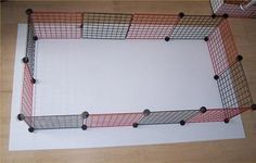 How to Make a C Cage. Bottom is made with coroplast.  Great idea for small indoor chickens.