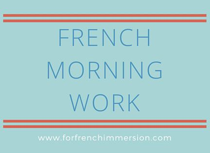 French Morning Work Printable Worksheets | French Language Learning ...
