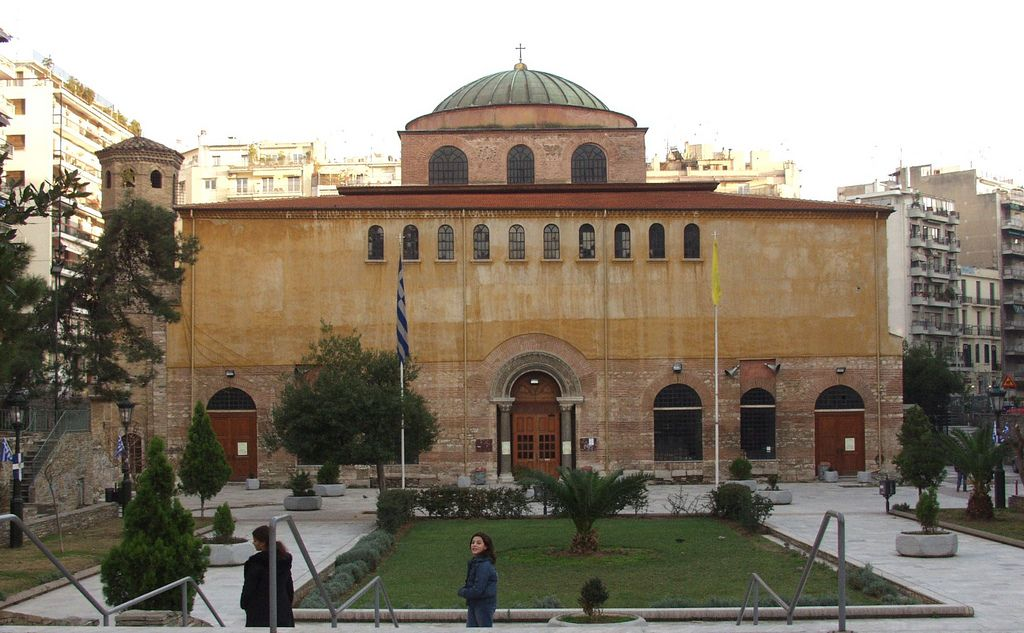 https://flic.kr/p/5f6tHJ | Aghia Sophia church, Thessaloniki, Greece | Constructed between 690-720bc this building still functions as a christian church. Thessaloniki, Greece