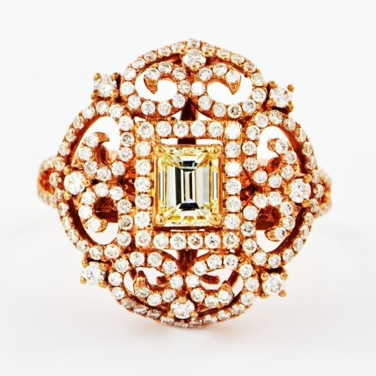 Rose Gold and Diamond Convertible Ring - Rings | Perry's Fine Antique & Estate Jewelry