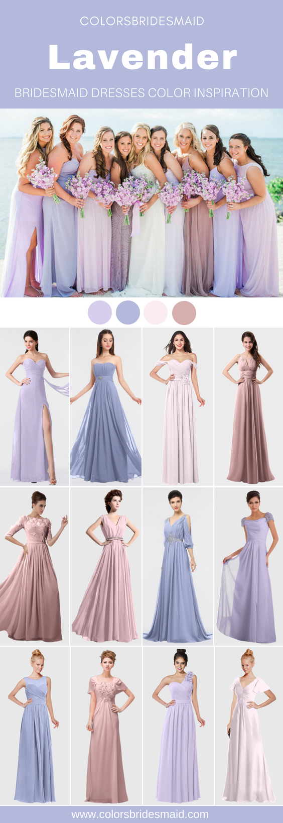 Lavender bridesmaid dresses in wedding pinterest