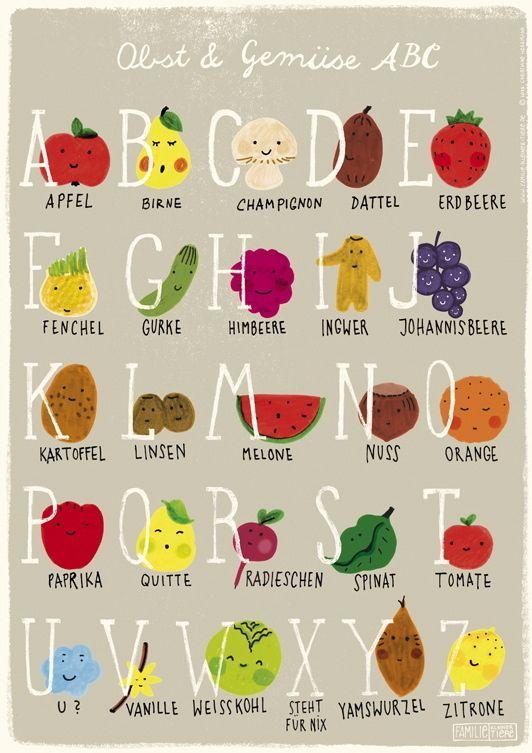 Obst & Gemüse ABC | Write on! | Pinterest | Obst gemüse, Obst und Gemüse