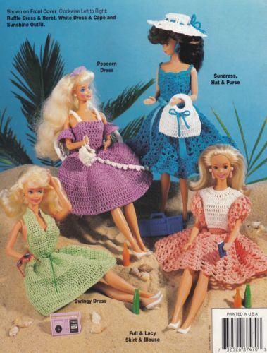 Fashion Doll Fun In The Sun Dresses Annies Attic Crochet Pattern