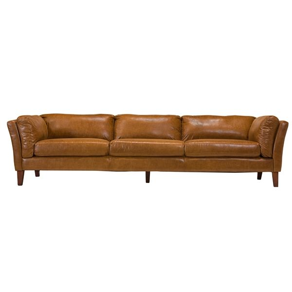 Leather furniture at a retail store may be out of your price range. Draper 4 Seater Leather Sofa, The Khazana Home Austin ...