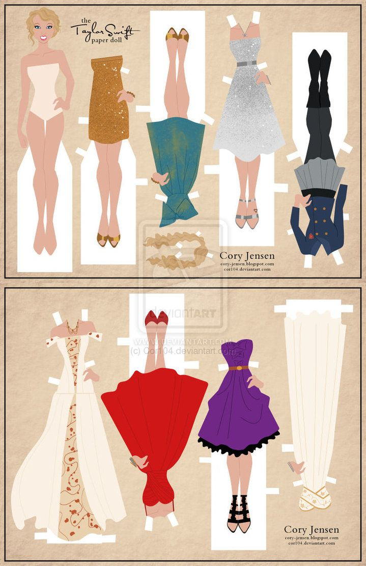 Taylor Swift Paper Doll By Cor104 On Deviantart Paper Dolls Vintage Paper Dolls Paper Dolls Printable