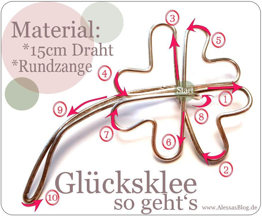Alessas Blog: {DIY} Glücksklee aus Draht Mehr | Drahtfiguren ...