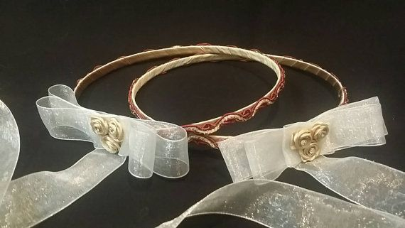Stefana - Handmade wedding crown / tiara - Greek Stephana - Orthodox Crown