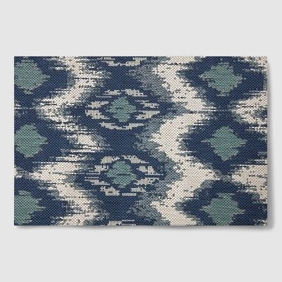 7 X 10 Ikat Cool Outdoor Rug Blue Threshold In 2020 Target Outdoor Rugs Rugs Outdoor Rugs