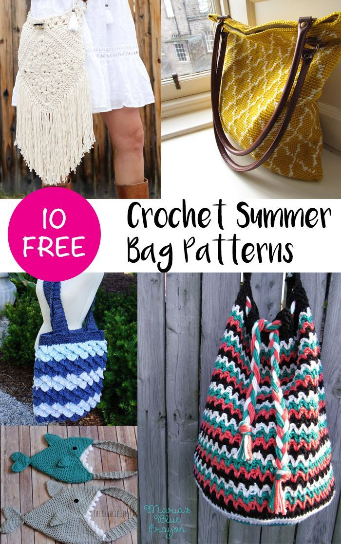Crochet Bag Pattern Round Up Pinterest Bag Pattern Free Crochet