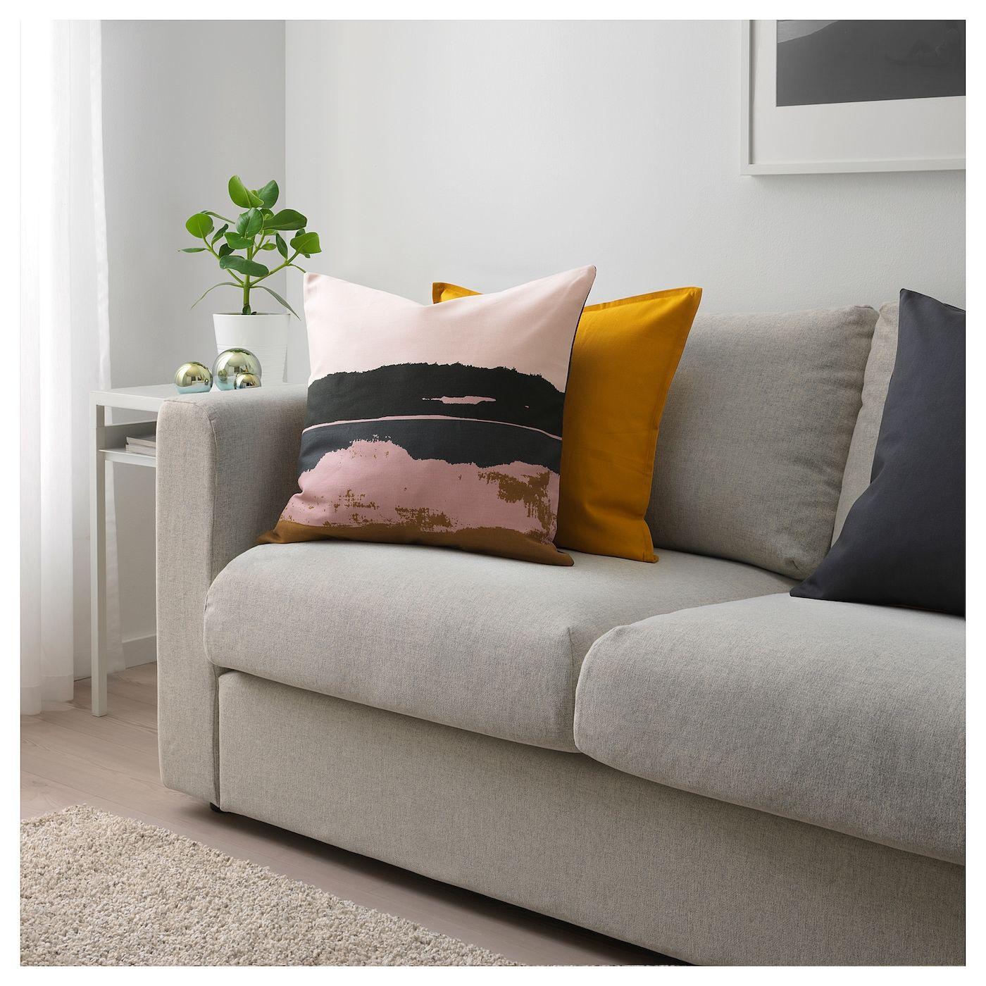 IKEA ELDTÖREL Cushion cover pink, multicolor Ikea